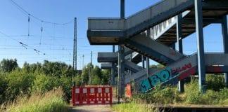 Tigerbrücke am Buchholzer Bahnhof