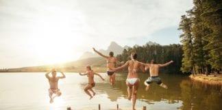 Sommer, Hitze, Warm, Baden, See