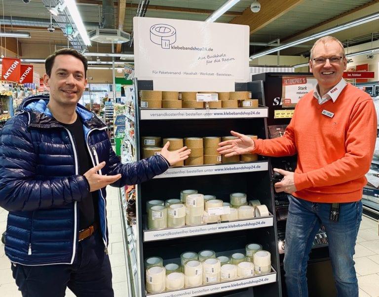 Nachhaltiges Klebeband aus Buchholz jetzt bei REWE Lorenz