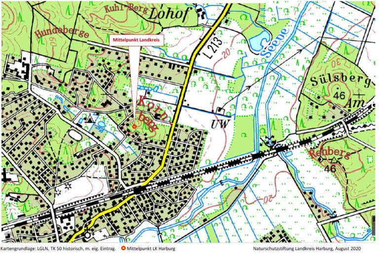 Der Mittelpunkt des Landkreises liegt in Jesteburg