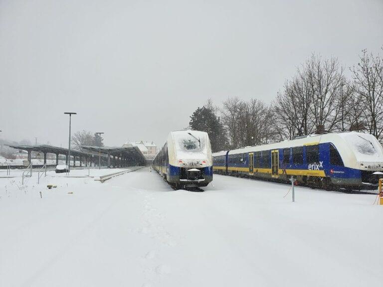Winterwochenende – metronom & erixx stellen den Betrieb ein